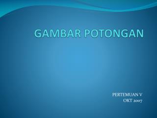 GAMBAR POTONGAN