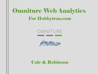 Omniture Web Analytics For Hobbytron