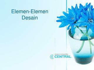 Elemen-Elemen Desain