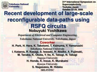 Recent development of large-scale reconfigurable data-paths using RSFQ circuits