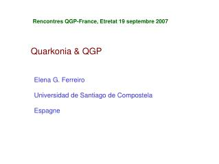Quarkonia & QGP
