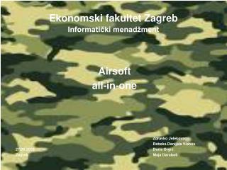 Ekonomski fakultet Zagreb Informatički menadžment
