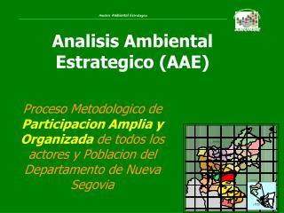 Analisis Ambiental Estrategico (AAE)