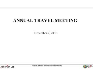 ANNUAL TRAVEL MEETING