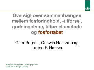 Gitte Rubæk, Goswin Heckrath og Jørgen F. Hansen