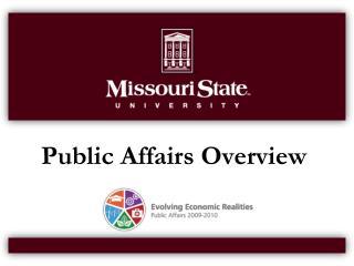 Public Affairs Overview