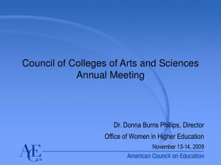 Council of Colleges of Arts and Sciences  Annual Meeting