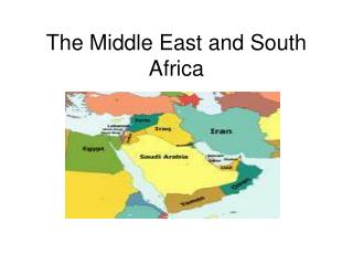 The Middle East and South Africa