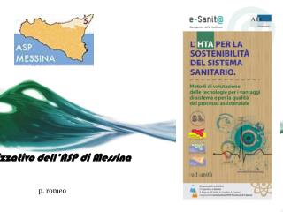 Il modello organizzativo dell�ASP di Messina
