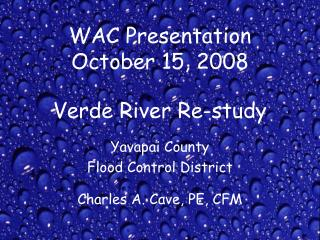 WAC Presentation October 15, 2008