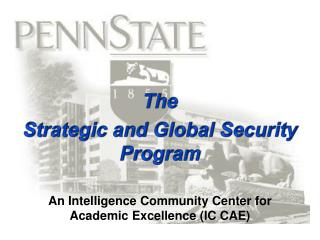 An Intelligence Community Center for Academic Excellence (IC CAE)