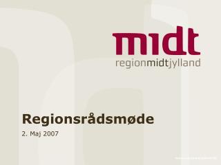 Regionsrådsmøde