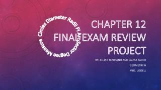 Chapter 12 Final Exam Review Project