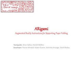 ARigami Augmented Reality Instructions for Supporting Paper Folding