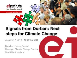 Signals from Durban: Next steps for Climate Change