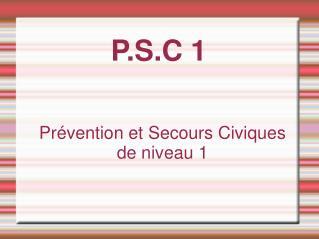 P.S.C 1