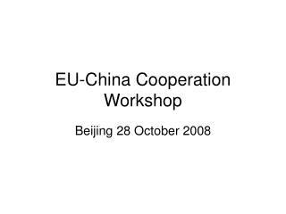 EU-China Cooperation Workshop