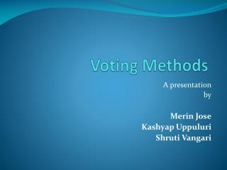 Voting Methods