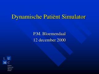 Dynamische Patiënt Simulator