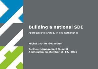 Building a national SDI