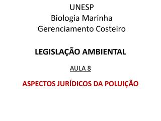 UNESP Biologia Marinha Gerenciamento Costeiro