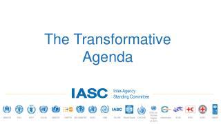 The Transformative Agenda