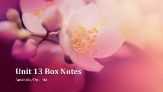 Unit 13 Box Notes