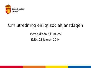 Om utredning enligt socialtjänstlagen