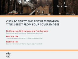 CLICK TO SELECT AND EDIT PRESENTATION TITLE, select from four cover images