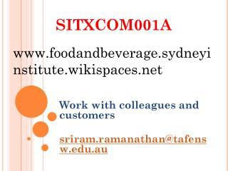 SITXCOM001A