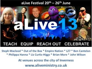 aLive Festival 20 th  – 26 th  June