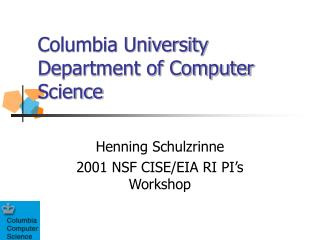 Columbia University Department of Computer Science