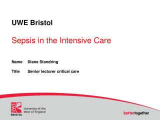 UWE Bristol Sepsis in the Intensive Care