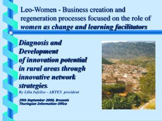 Diagnosis and  Development  of innovation potential  in rural areas through innovative network