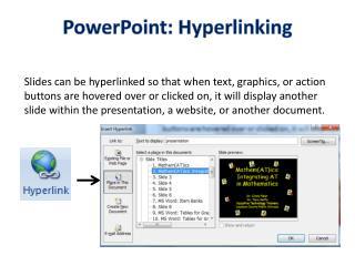 PowerPoint: Hyperlinking