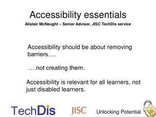 Accessibility essentials