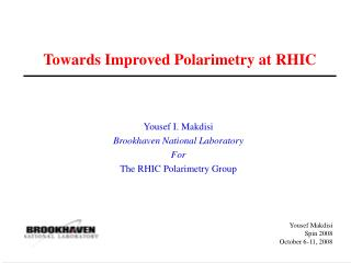 Towards Improved Polarimetry at RHIC