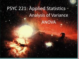 PSYC 221: Applied Statistics