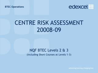CENTRE RISK ASSESSMENT  20008-09