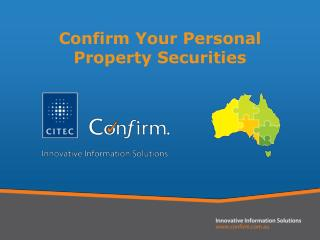 Confirm Your Personal Property Securities