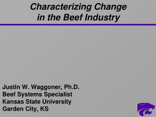 Characterizing Change  in the Beef Industry