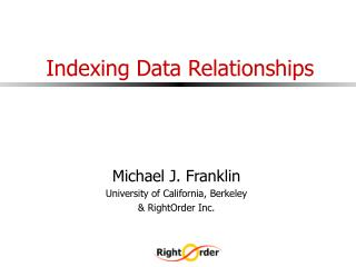 Indexing Data Relationships