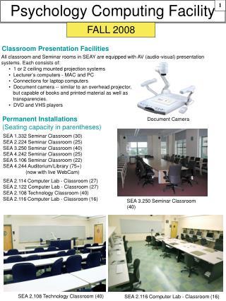 Psychology Computing Facility