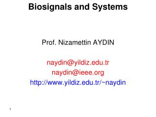 Biosignals and Systems