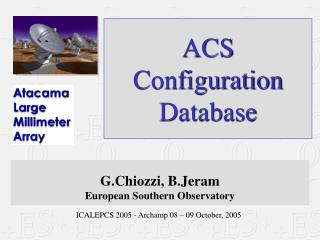 ACS  Configuration Database