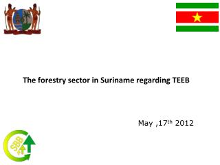 The forestry sector in Suriname regarding TEEB
