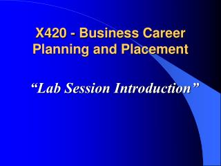 """Lab Session Introduction"""