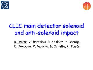 CLIC main detector solenoid and anti-solenoid impact