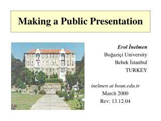 Making a Public Presentation