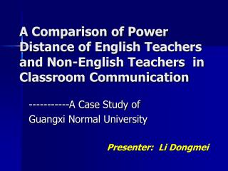 -----------A Case Study of  Guangxi Normal University